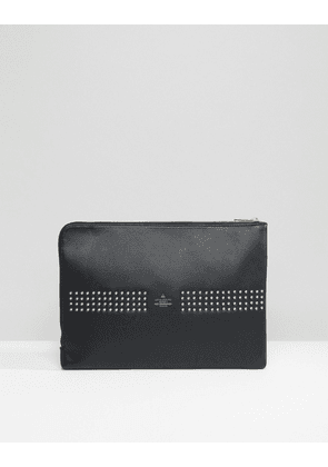 ASOS Clutch Document Case With Studding In Black