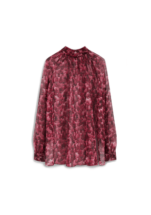 Mulberry Hettie Blouse in Fuchsia Feather Chiffon