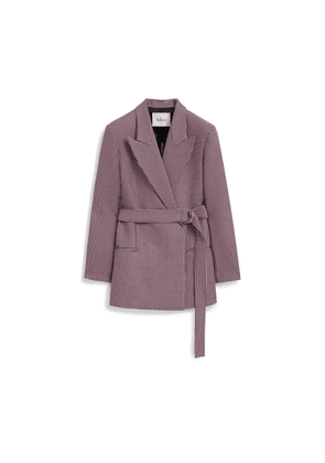 Mulberry Elle Jacket in Icy Pink Mini Houndstooth Textured Wool