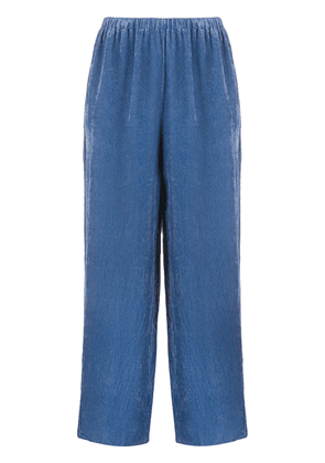 Forte Forte ribbed straight-leg trousers - Blue