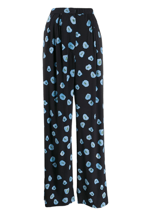 Christian Wijnants floral palazzo pants - Blue