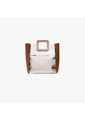 Staud brown Shirley canvas PVC leather tote bag