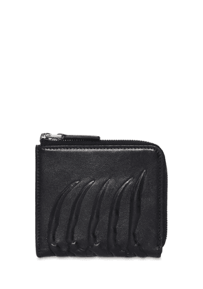 Rib Cage Leather Coin Wallet W/ Zip