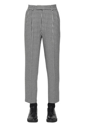 19cm Cropped Wool Houndstooth Pants