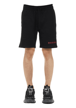 Mafia Logo Printed Cotton Shorts