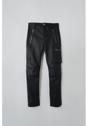 Acne Studios FN-MN-TROU000129 Black  Fitted leather trousers
