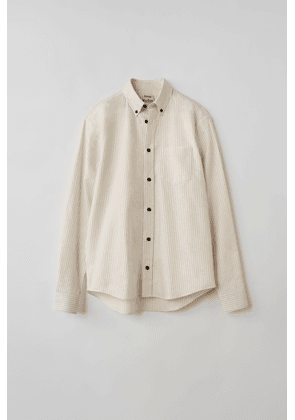 Acne Studios FN-MN-SHIR000111 White/yellow  Striped long-sleeved shirt