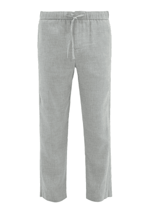 Frescobol Carioca - Sandro Linen Blend Chino Trousers - Mens - Grey