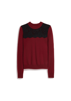 Mulberry Tamera Jumper in Burgundy Fine Merino