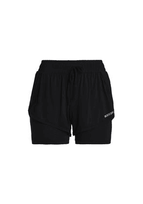 Bodyism Clare Layered Stretch-jersey Shorts Woman Black Size XL