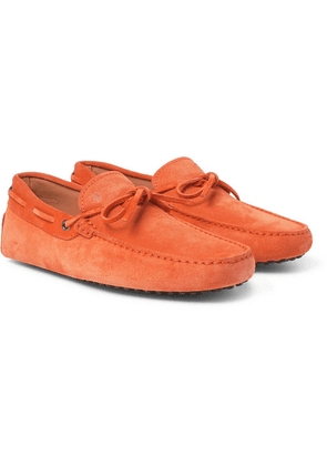 Tod's - Gommino Suede Driving Shoes - Orange
