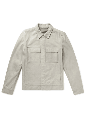 Theory - Jamie Slim-fit Suede Jacket - Gray