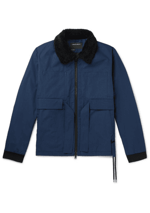 Craig Green - Faux Shearling-trimmed Cotton-gabardine Jacket - Navy
