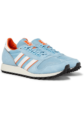 adidas Consortium - Spezial Silverbirch Mesh And Suede Sneakers - Light blue