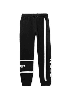 Givenchy - Tapered Logo-embroidered Loopback Cotton-jersey Sweatpants - Black