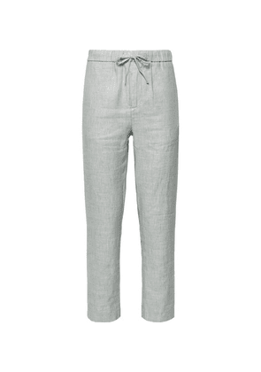 Frescobol Carioca - Sandro Linen And Cotton-blend Drawstring Trousers - Light gray