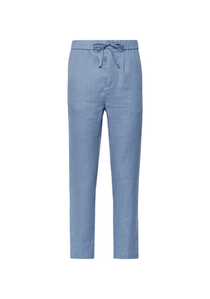 Frescobol Carioca - Sandro Linen And Cotton-blend Drawstring Trousers - Light blue