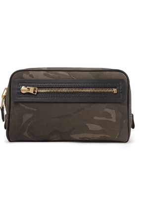 TOM FORD - Camouflage-print Leather Wash Bag - Green