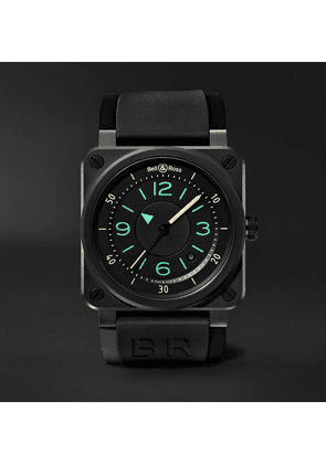 Bell & Ross - Br03-92 Automatic 42mm Ceramic And Rubber Watch - Black