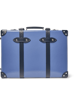 Globe-Trotter - 20' Leather-trimmed Carry-on Suitcase - Blue