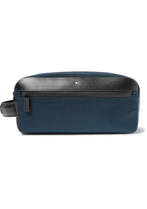 Montblanc - Nightflight Leather-trimmed Canvas Wash Bag - Royal blue