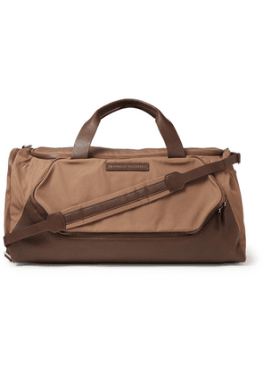 Brunello Cucinelli - Leather-trimmed Nylon Holdall - Brown
