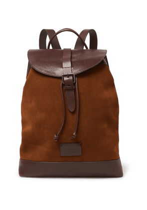 Anderson's - Leather And Suede Backpack - Brown