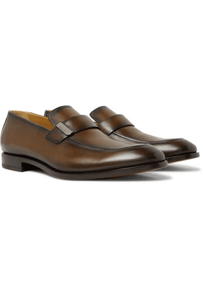 Berluti - Reflet Leather Loafers - Brown