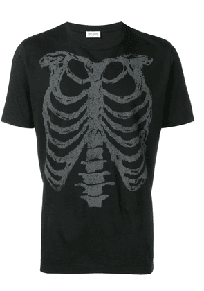 Saint Laurent rib cage printed T-shirt - Black