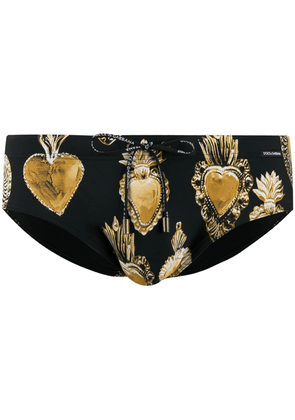 Dolce & Gabbana heart swim shorts - Black
