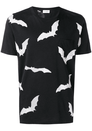 Saint Laurent bat print T-shirt - Black