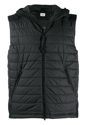 CP Company hooded gilet jacket - Black