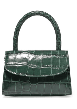 BY FAR - Mini Croc-effect Leather Tote - Green