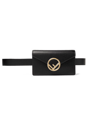 Fendi - Textured-leather Belt Bag - Black