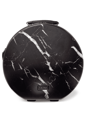 CALPAK - Baye Medium Marbled Hardshell Hat Box - Black