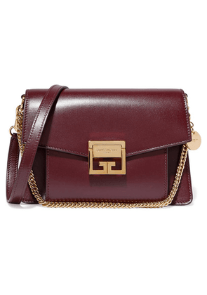 Givenchy - Gv3 Small Leather Shoulder Bag - Dark purple