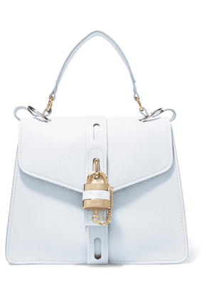 Chloé - Aby Small Textured And Smooth Leather Shoulder Bag - Light denim