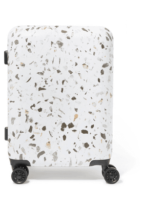 CALPAK - Terrazza Carry-on Marbled Hardshell Suitcase - White