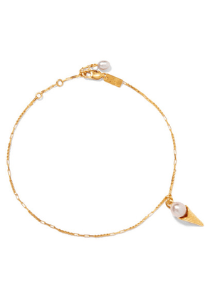 Pernille Lauridsen - Gold-plated Pearl Anklet - one size