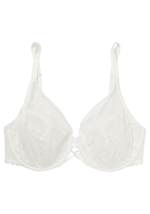 Maison Lejaby - Stretch-lace And Tulle Underwired Soft-cup Bra - White