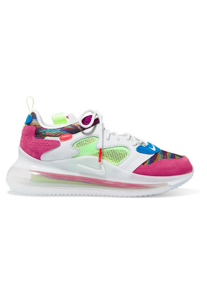 Nike - Air Max 720 Obj Mesh, Suede And Leather Sneakers - Pink