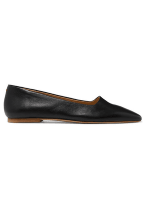 aeyde - Beau Leather Ballet Flats - Black