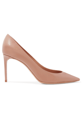 SAINT LAURENT - Zoe Patent-leather Pumps - Neutral