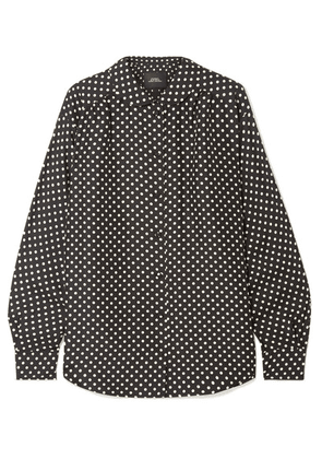 Marc Jacobs - Polka-dot Silk-satin Shirt - Black