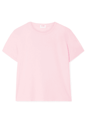 RE/DONE - Classic Cotton-jersey T-shirt - Baby pink