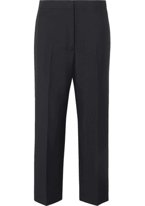 Jil Sander - Cropped Wool And Mohair-blend Pants - Navy