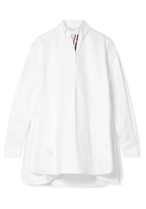 Thom Browne - Oversized Grosgrain-trimmed Cotton Oxford Tunic - White
