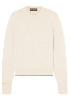 Loro Piana - Cable-knit Cashmere Sweater - Ivory