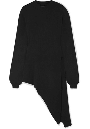 Khaite - Esme Asymmetric Stretch-cashmere Sweater - Black
