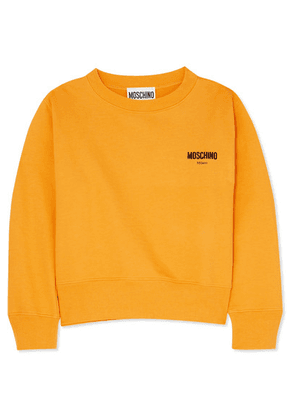 Moschino - Flocked Cotton-jersey Sweatshirt - Yellow